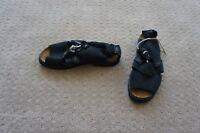 NAOT Leather Black Lace Up SANDALS SIZE US 7.5 EU38