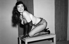 WW2 WWII Photo Betty Brosmer Pinup Girl 1950's Centerfold World War Two / 8042