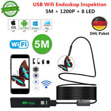5m WiFi Endoskop Wasserdicht USB Endoscope Inspektion Kamera für IOS Android PC