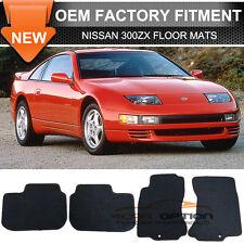 For 90-96 Nissan 300ZX 2Dr Floor Mats Carpet Front & Rear Nylon Black 4PC
