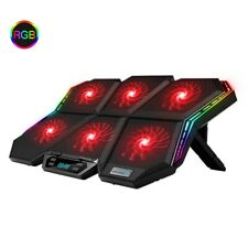 Laptop cooler  Led Screen Laptop cooling pad Notebook cooler six fans RGB light
