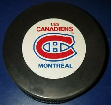 vintage 1990s MONTREAL CANADIENS  NHL inglasco OFFICIAL PRO GAME PUCK gil stein
