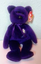TY Beanie Baby PRINCESS DIANA Purple Teddy Bear, 1997, Near Mint