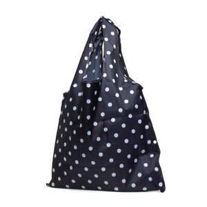 Lilley Navy and White Polka Dot Shoppers Handbag