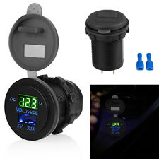 5V 2.1A USB Car Electric Charger Volt Meter Panel Socket Adapter Universal 1x