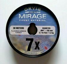 Orvis Mirage Fluorocarbon Tippet 7X  2.7Lb. Test                        Item K41