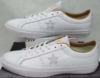 New Mens 13 Converse One Star Prime OX White Sand Leather $85 153700C