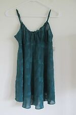 NEW WOMEN'S FREDERICK'S OF HOLLYWOOD TEAL GREEN BABYDOLL CHEMISE LINGERIE SMALL