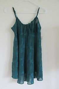 New Women's Frederick's of Hollywood Teal Green Babydoll Nightie Lingerie Small