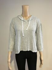 Abercrombie & Fitch Hollister Hoodie Women's 3/4 Sleeve Knit Top XS Grey NWT