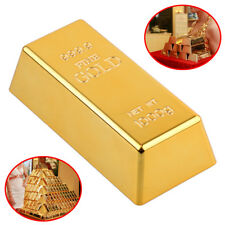 "6.5"" Fake Gold Bar Brick Bullion Door Stop Paperweight Desk Office Home Decor"