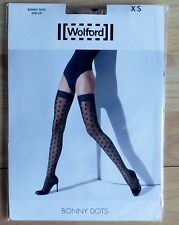 NEU & OVP: Wolford BONNY DOTS STAY UP Farbe: Sahara/Black! Gr. XS!
