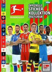 10 Topps Bundesligasticker 17/18 aus 290 auswählen 2017/2018 ALDI Süd (Panini) 1