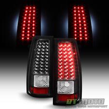 Black 1999-2002 Chevy Silverado 1500 2500 3500 LED Tail Lights Brake Lamps 99-02