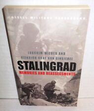BOOK WW2 Stalingrad Memories and Reassessments by Wieder and von Einsiedel 2003
