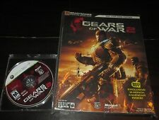 Gears of War 2 (Microsoft Xbox 360, 2008) w/ Official Strategy Guide