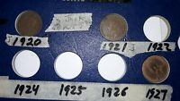 LOT OF 39 CANADIAN SMALL CENT COLLECTION 1920 - 1964