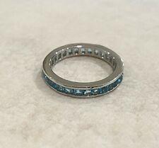 Rings - Sterling Silver - Cubic Zirconia - Sky Blue - Australian Seller