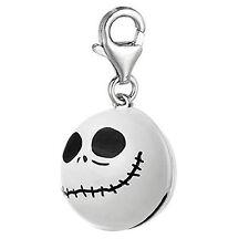 Nightmare Before Christmas White Halloween Skull Bell Clip On Pendant for Europe
