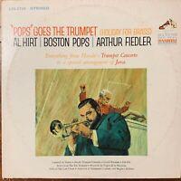 """POPS"" GOES THE TRUMPET AL HIRT BOSTON POPS ARTHUR FIEDLER VINYL LP RCA LSC-2729"