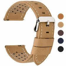 Fullmosa 6 Colors Breezy Leather Watch Band 18/20/22/24mm Quick Release