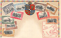 Romania, Stamps on Embossed Postcard, Unused, Published by Ottmar Zieher