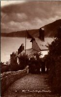 Vintage 1920's Rose Cottage in Clovelly England UK RPPC Real Photo Postcard
