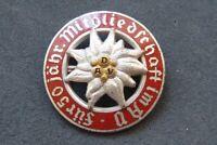 altes Emaille Abzeichen DAV Deutscher Alpen Verein - 50 Jahre - Edelweiß