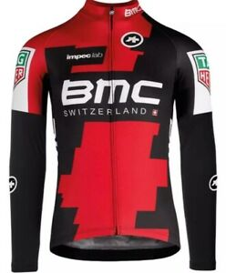 READY STOCK NEW Long Sleeve Men's BMC SWITZERLAND CYCLING Jersey Breathable