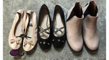 Ladies Size 5 Flat Shoe Boots Bundle Dolly Shoes All New Black Pale Pink