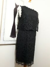 KALIKO BLACK TAPE WORK  LACE WITH  BODICE  EVENING/COCKTAIL  DRESS Sz 18 NWOT