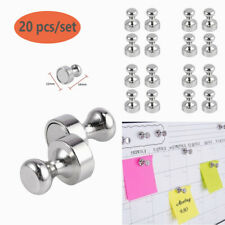 20Pcs Neodymium Memo Magnets Push Pin Magnetic for Whiteboard Refrigerator Home