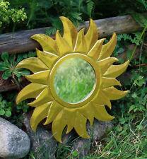 GOLDENER SONNENSPIEGEL Wandspiegel Holz Sonne Spiegel Sonnen-Spiegel Dekosonne