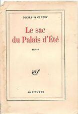 LE SAC DU PALAIS D'ETE - PIERRE-JEAN REMY (FRENCH TEXT)