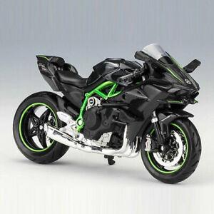 1:18 Kawasaki Ninja H2 R Motorcycle Model Diecast Motorbike Model Collection