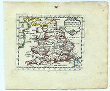 Carte ancienne DUVAL antique map 1670 ANGLETERRE England Galles Wales London 28