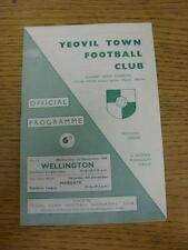 01/12/1965 Yeovil Town v Wellington Town [Southern League Cup] . Item in very go