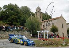 Petter Solberg mano firmado Subaru Impreza 2003 Rally Champion Foto 12x8 4.
