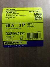 Square D Hda36030 30 Amp 3 Pole I Line Current-Limiting Circuit Breaker 600 Volt