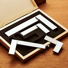 2, 3, 4 & 6 Inch Engineers Square Set 4pc Squares In Wooden Case - Try Square