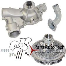 Engine Water Pump + Fan Clutch Kit for Ford Excursion F-250 F-350 7.3L Diesel V8