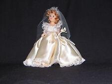 "Doll 7"" storybook ""Dress Me"" #2 Sandy Hair Sleep eyes bridal gown & veil"