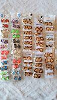 Joblot 50 Pairs Leopard Print Diamante&Crystal Stud Earrings-Wholesale New Lot B