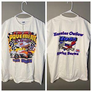 Vintage Pavement Kings Hoosier Outlaw Hoss Sprint Series Mathron Muscle T-shirt