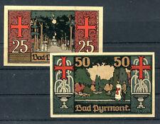 Bad Pyrmont 2 Scheine Notgeld .............................................z1209