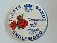 Vintage Very Large Tournament of Roses Parade 1971 Pinback Button Englewood