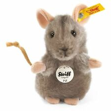 Steiff Piff Standing Pet Mouse Cuddly Soft Grey Plush 10cm Animal 056222