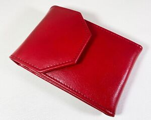 Original Red Faux Leather Travel Case for 4 FP, Made in Argentina (AR1317)