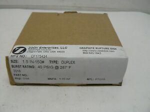ZOOK Enterprises CF175434 graphite rupture disk size 1.5 in-150# burst 40 PSIG