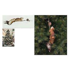 Scoiattolo su ramo decorazioni per albero di Natale da regalo addobbi natalizi c